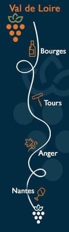 Nos hôtels sur la route des vins en Val de Loire