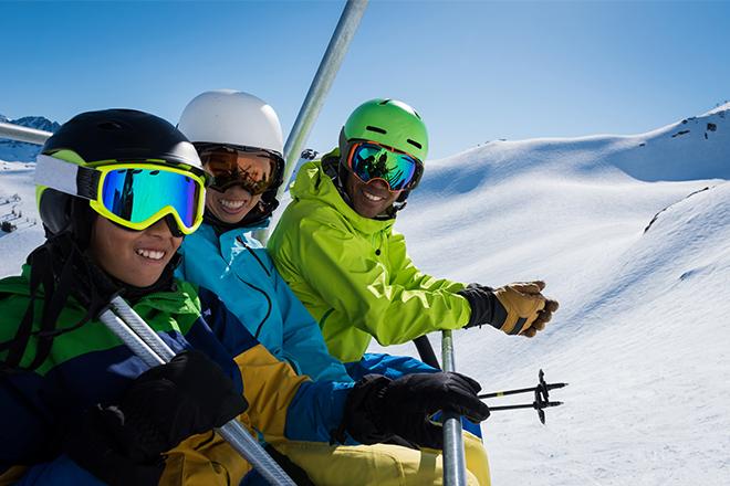 ski gezin Pyreneeën