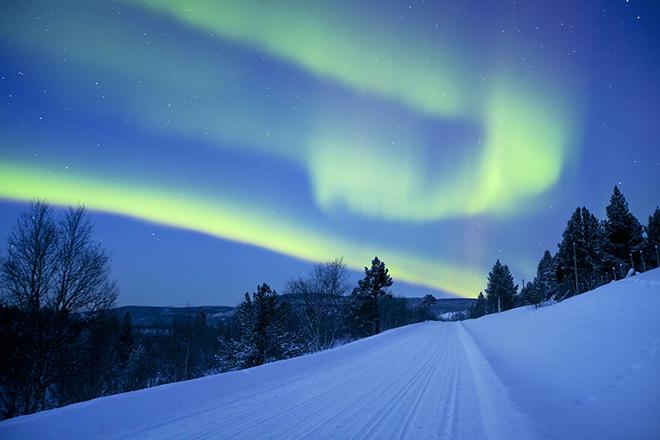 aurora boreal, Santa Claus, Laponia