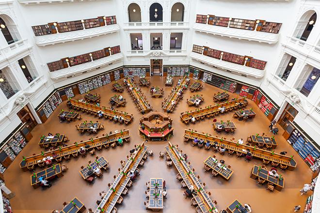 Melbourne state library victoria