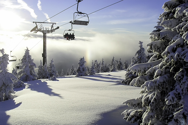 Parque regional, Vercors, esquiar