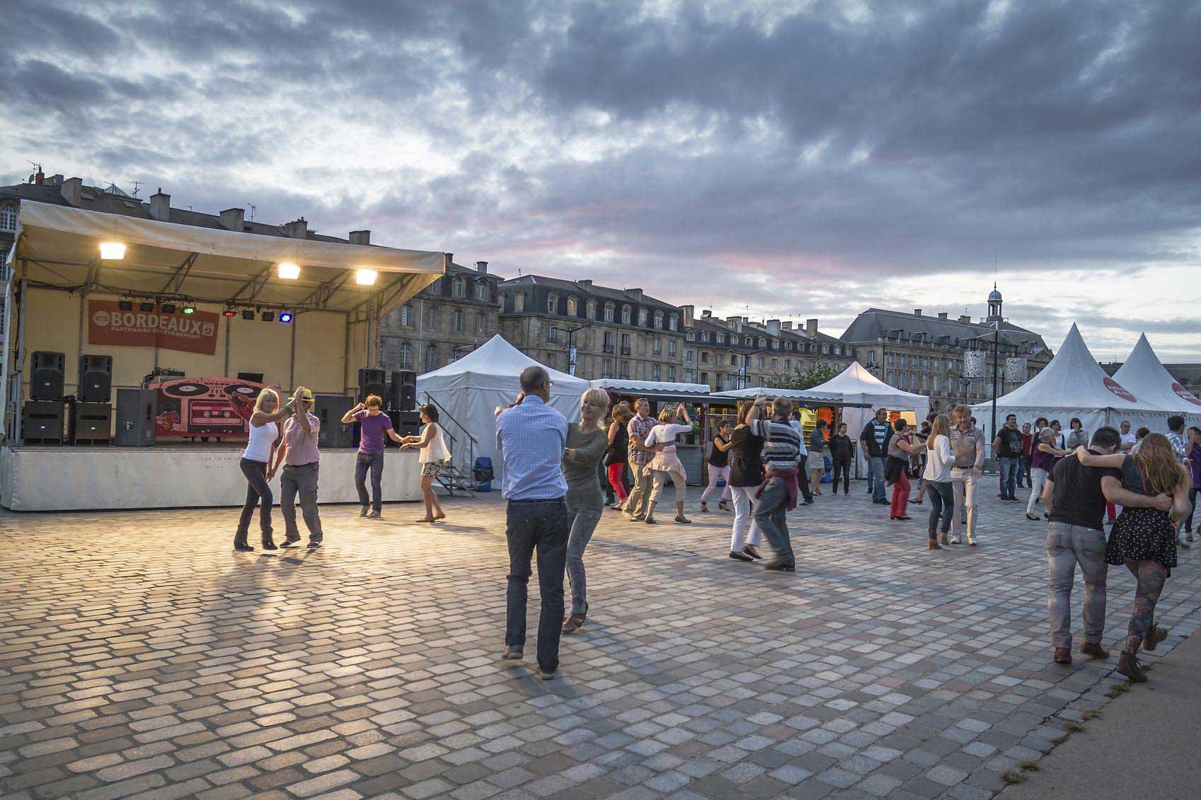 Un festival de musique en pleine ville Bordelaise