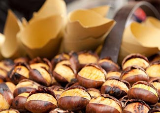 Eating roasted chestnuts