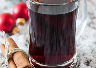Drinking mulled wine