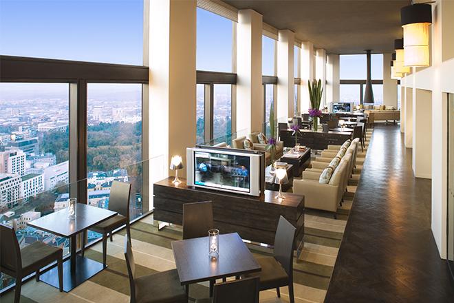 Almorzar en el piso 35 del Sofitel de Melbourne