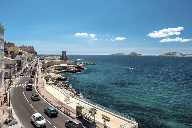 Running sur la corniche de Marseille