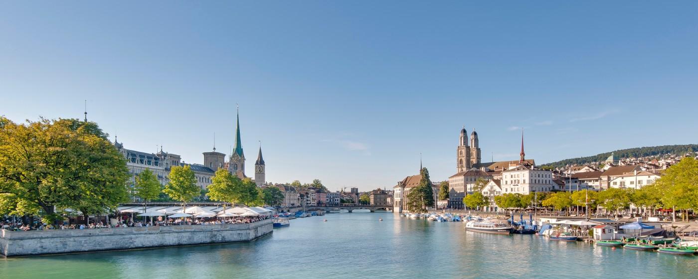 Stracciatella et sorbet au citron à Zurich