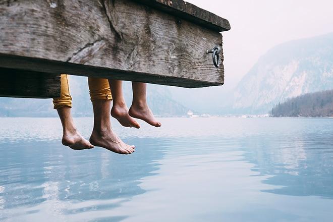 S'oxygéner en famille sur les rives du Lac d'Annecy