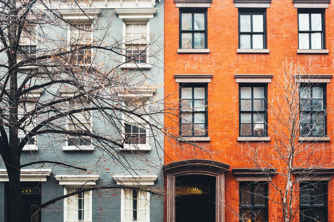 brownstones townhouses new york foto manhattan