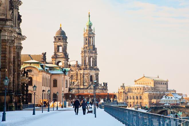 Die Brühl'sche Terrasse in Dresden