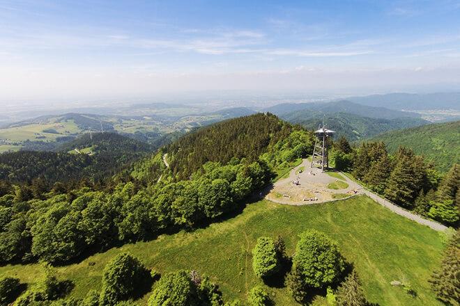 Ausblick vom Freiburger Hausberg