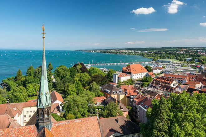 Ausblick über Konstanz