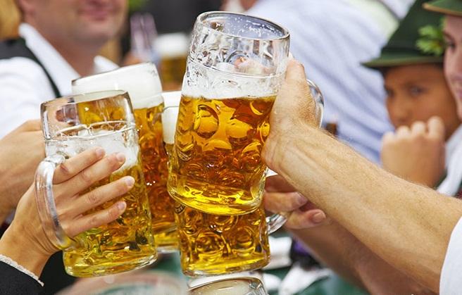 Beer at oktoberfest in Berlin