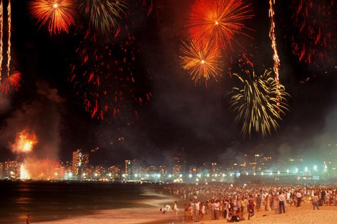Festa da Virada na Praia de Copacabana (Fotos: Getty Images)