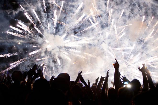 Ano Novo em Santiago (Fotos: Getty Images)