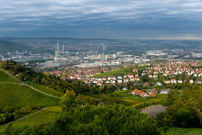 Aussicht Karlshöhe Stuttgart