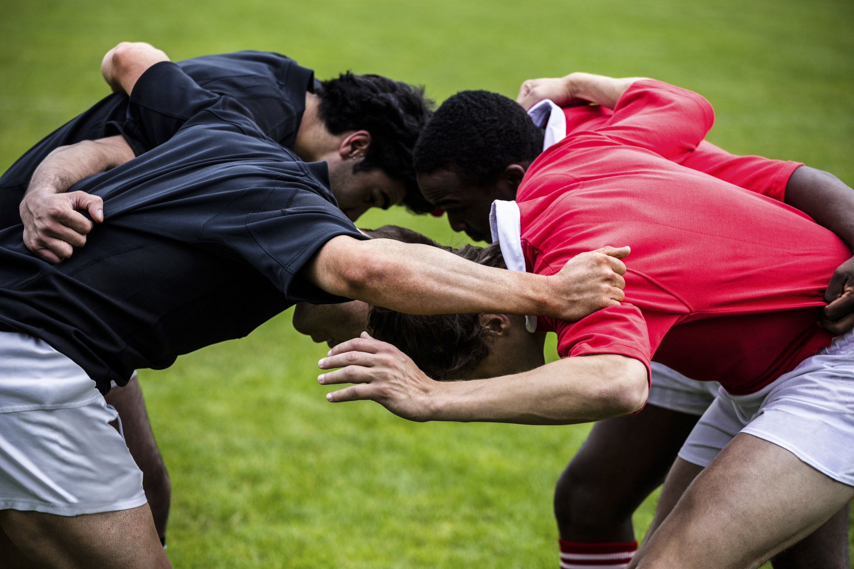 players doing a scrum
