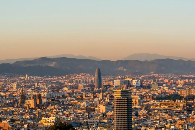 El atardecer de Barcelona