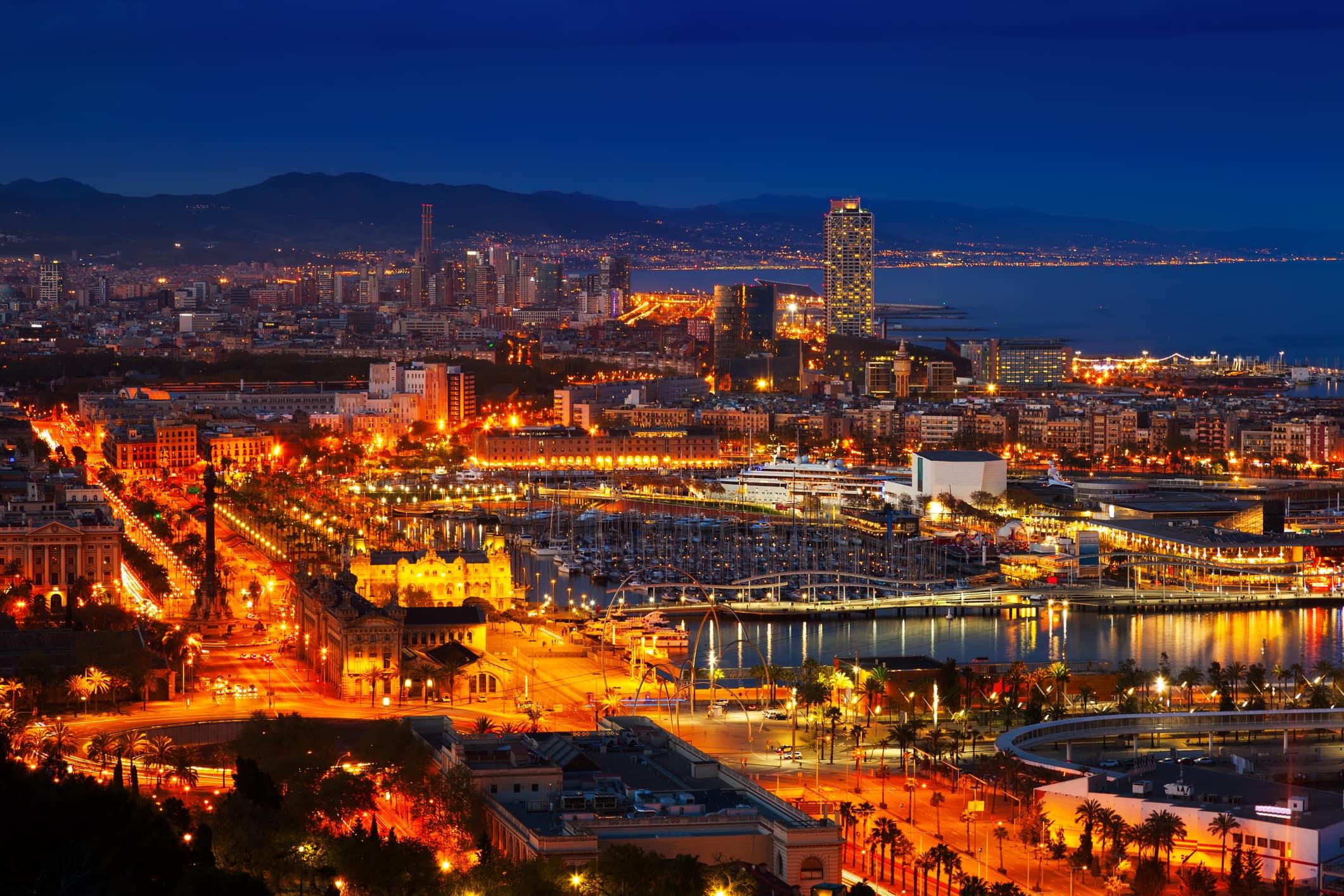 Escapade nocturne à Barcelone