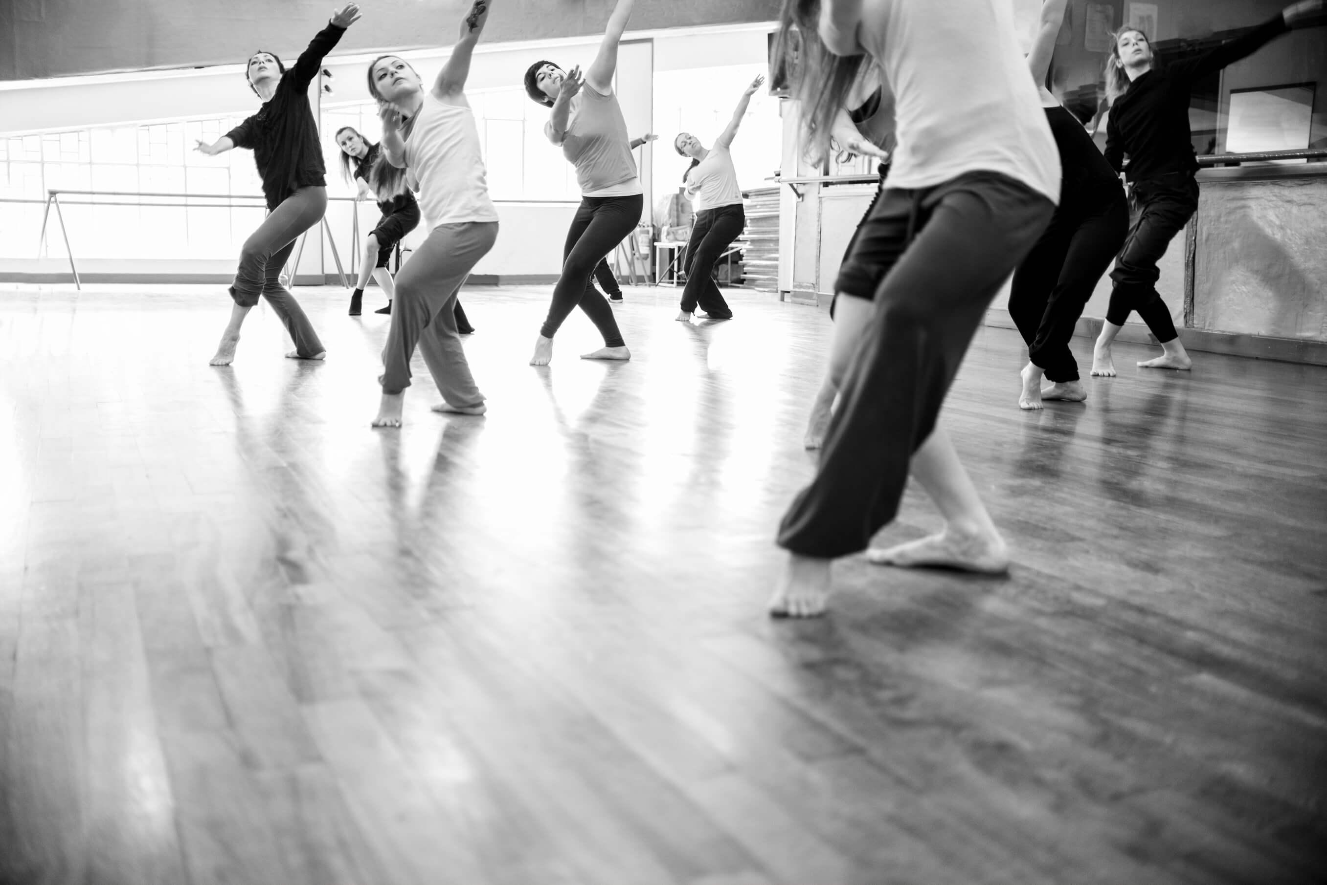 modern dance classroom