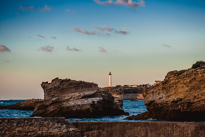 vue sur l'ocean biarritz