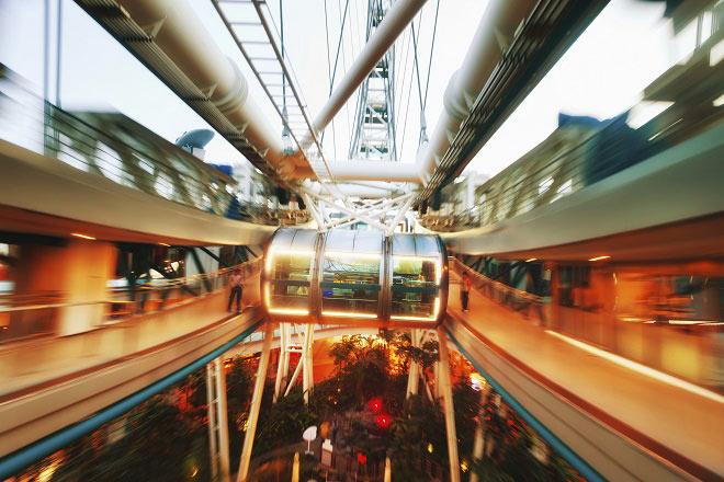 Fêter Noël depuis la grande roue de Singapour