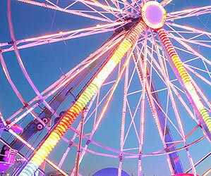Big wheels and other christmas-time attractions