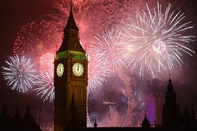 Il Big Ben con il London Eye sullo sfondo