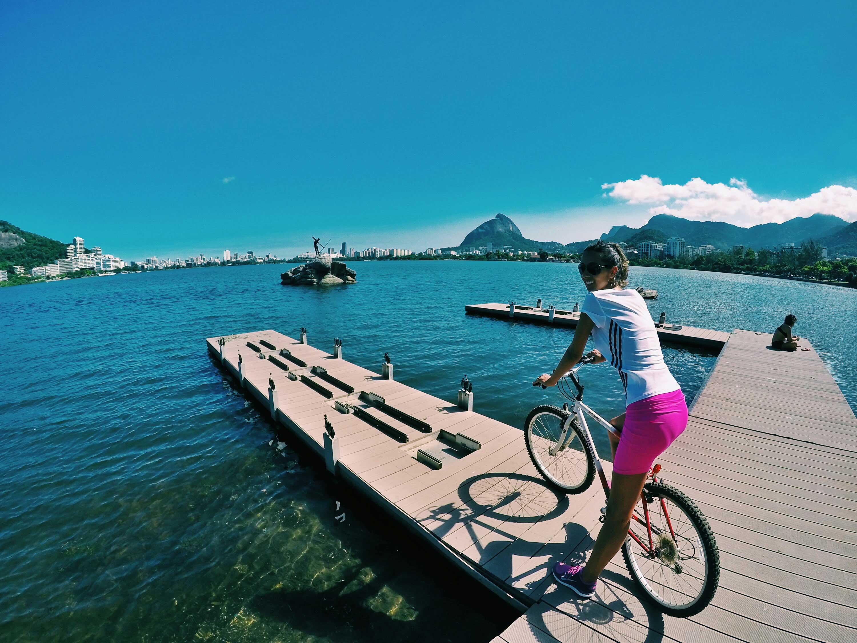 Vélo Rio de Janeiro étang Rodrigo de Freitas