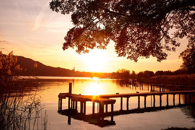 coucher de soleil lac annecy