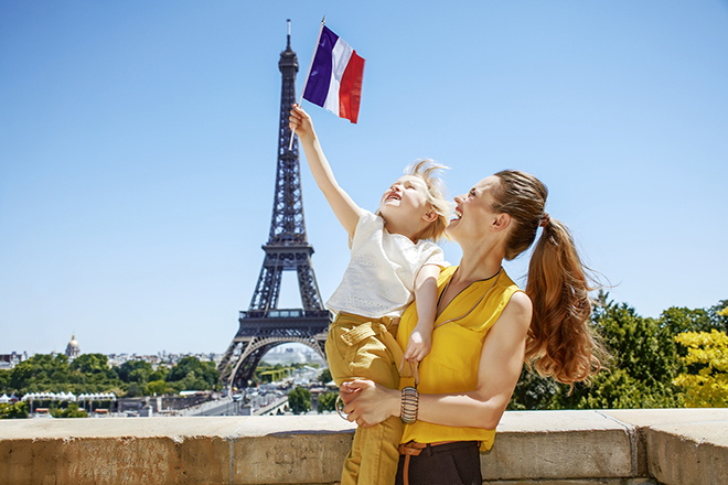 family trips in paris