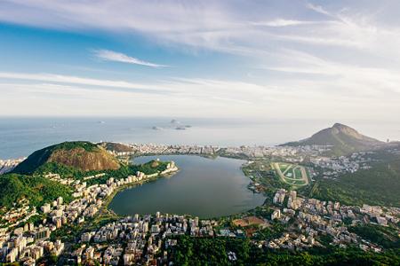 Vista aérea de la laguna Rodrigo de Freitas