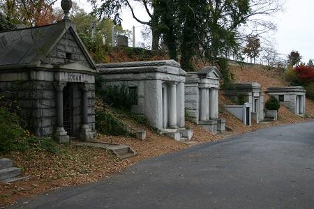 Vista del cementerio Hollywood Forever