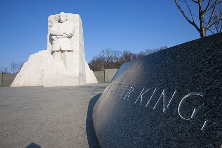 Imagen del monumento a Martin Luther King Jr.