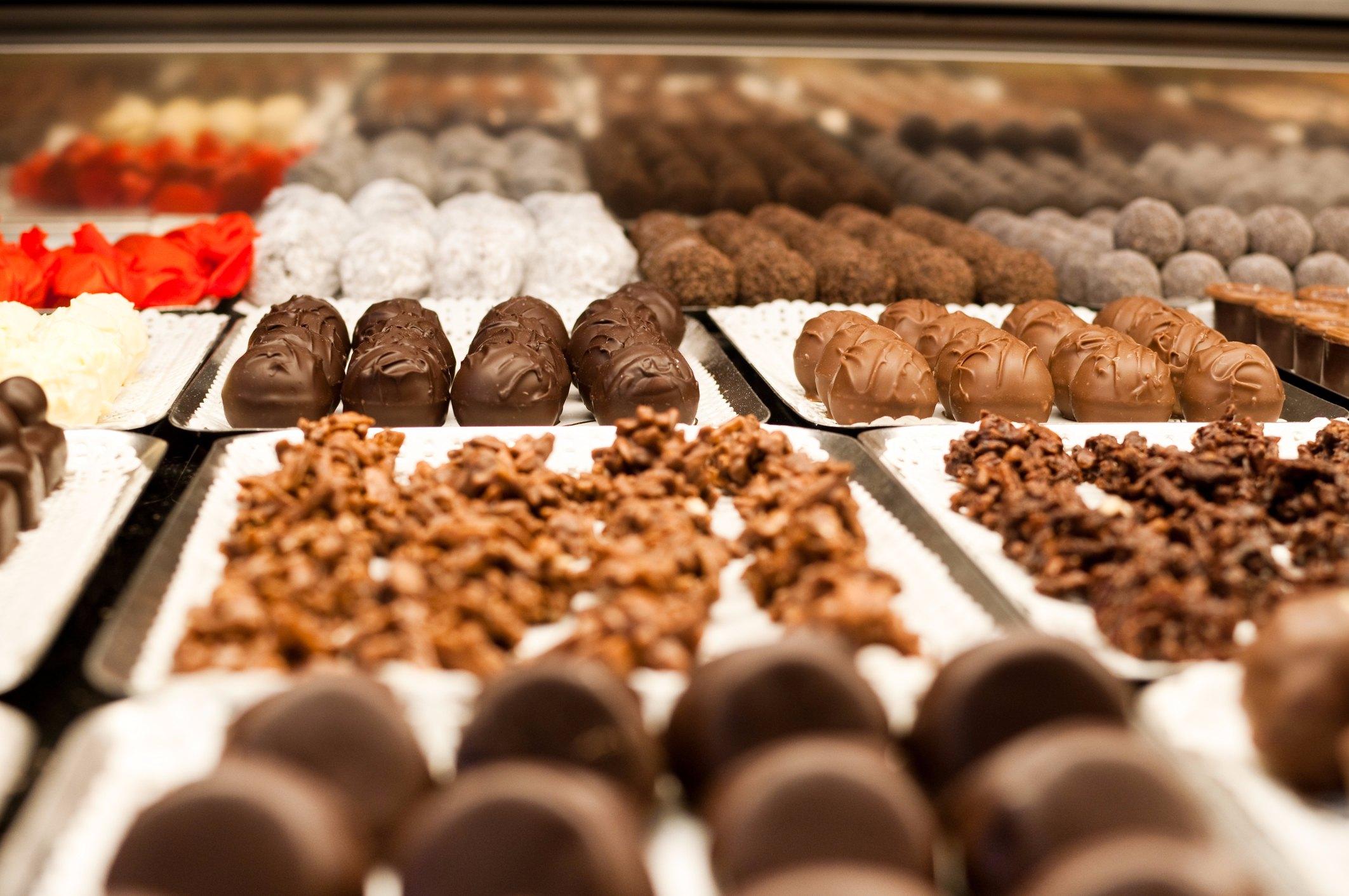 praline au chocolat