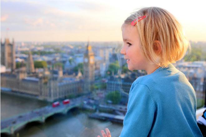 Bambina sul London Eye