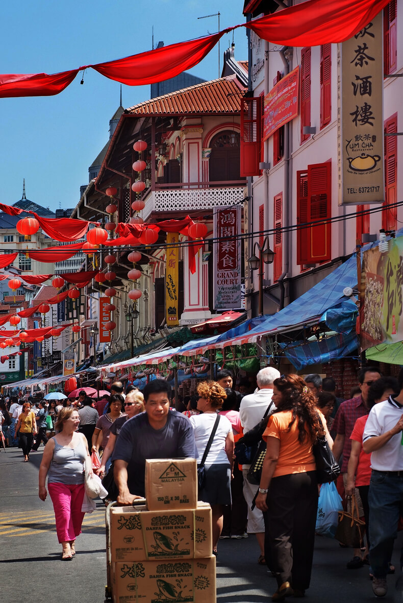 Chinatown Singapore preparing for Chinese New Year. Source: William Cho