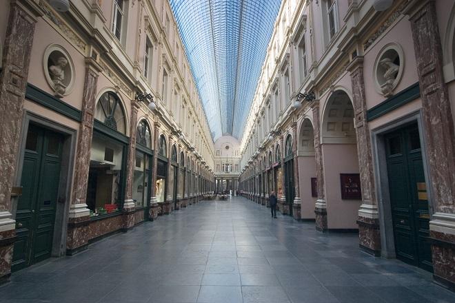 Zu Weihnachten Shopping-Fieber in Brüssel ausleben