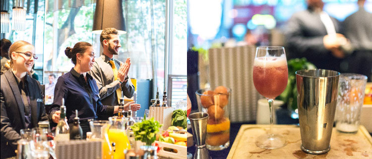 Fun and games during the cocktail masterclass