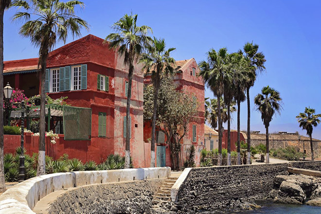 Calme l'île de Gorée