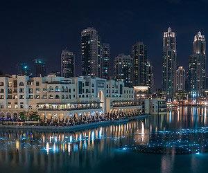 Durch die nacht tanzen in Dubai