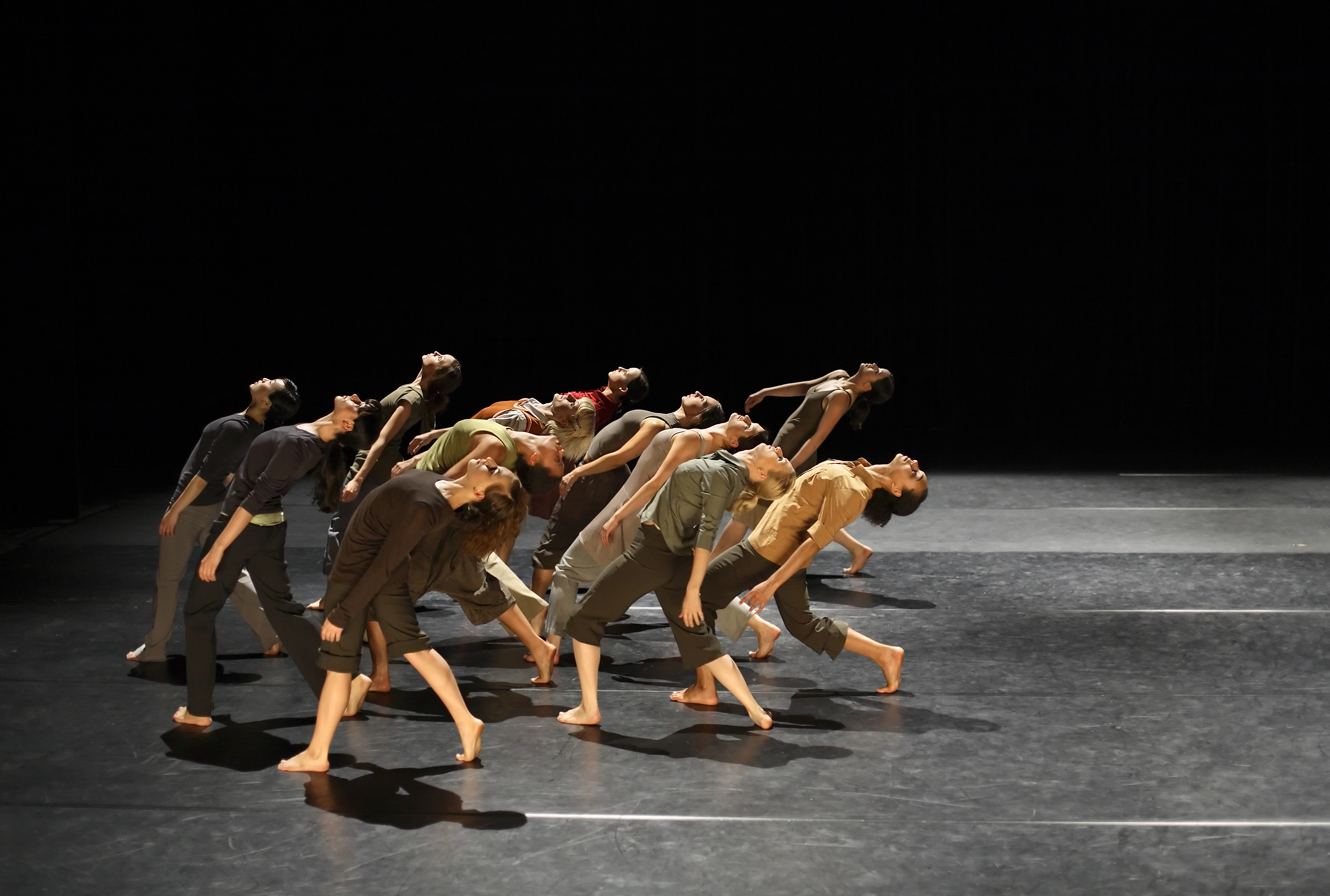 group of contemporary dancers