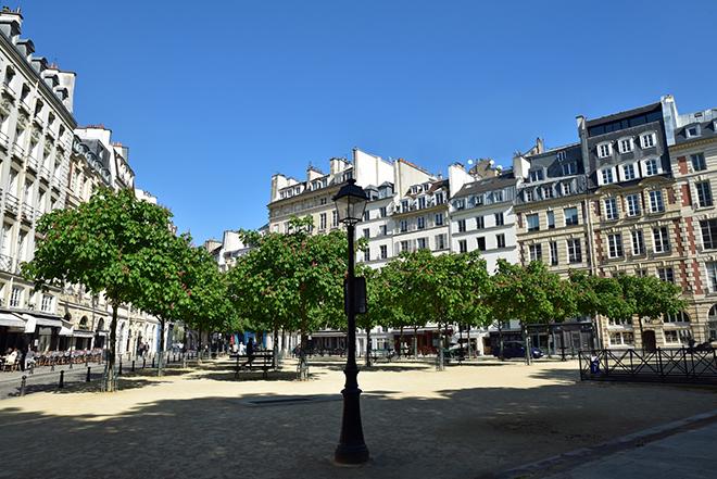 Ein Wochenende in Paris mit Ruhe: Place Dauphine