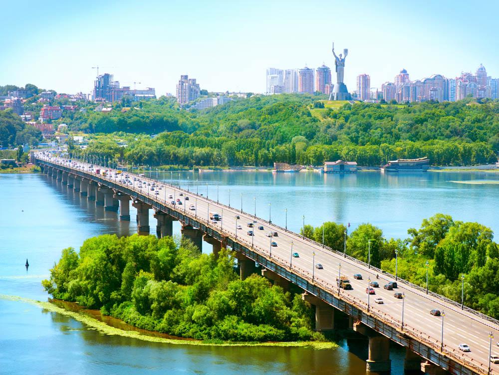 Вид на Киев