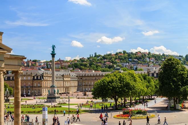 Der Schlossplatz in Stuttgart