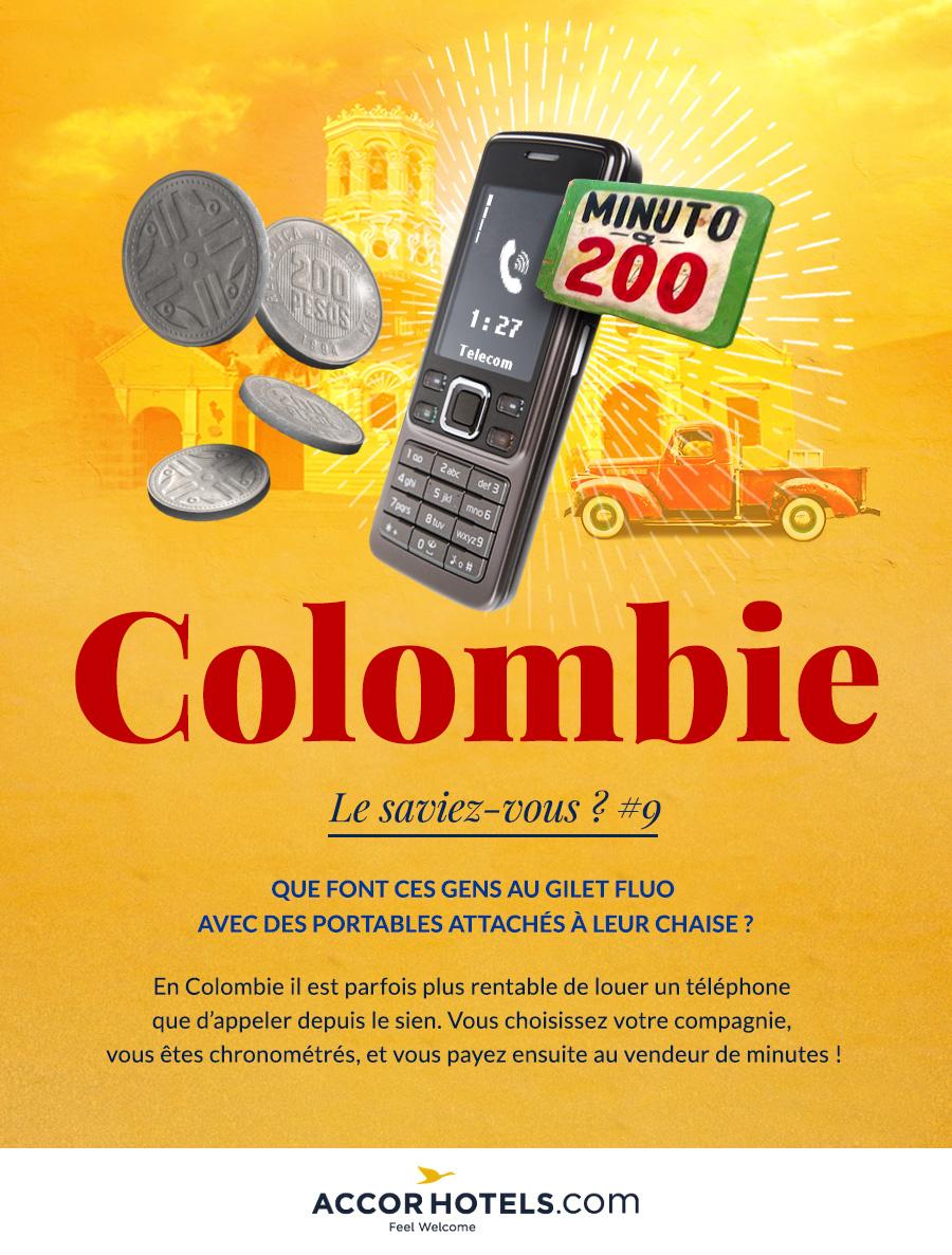 minutes de communication en Colombie