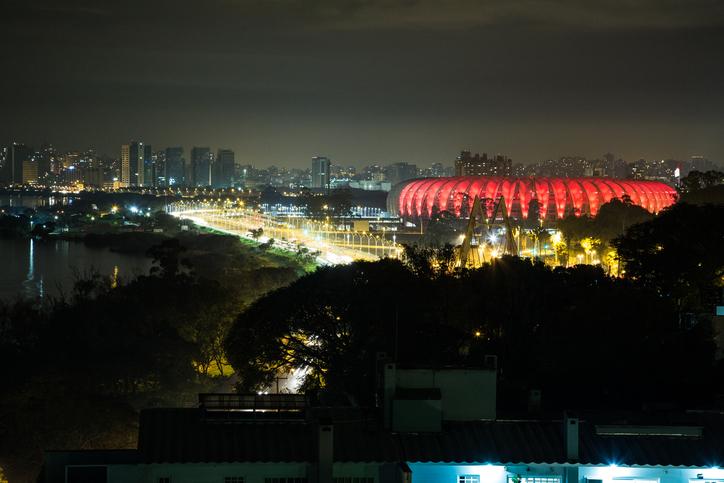 Vista do estádio Beira Rio, em Porto Alegre