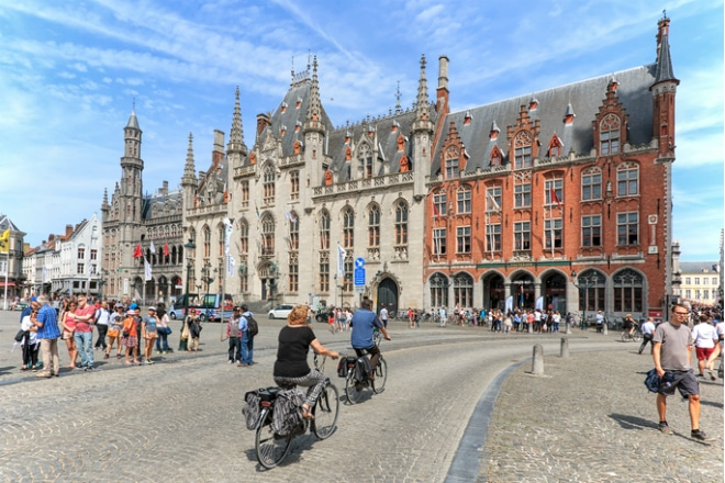 fietsen in Brugge