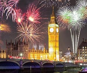 Feuerwerk zu Silvester in London
