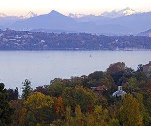In Genf den Genfersee fotografieren